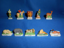 Region Basse-Normandie Miniature Porcelain Hand-painted French Feves Figurines