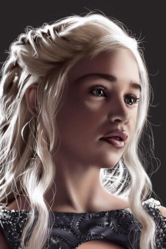 Emilia Clarke Game of Thrones Art Wall Indoor Room Outdoor Poster POSTER 24x36