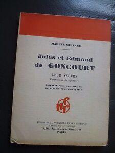 M-Salvaje-Edmond-y-Jules-de-Goncourt-Su-Arte-1932-N-R-c-Paris-N-94-Edit-o