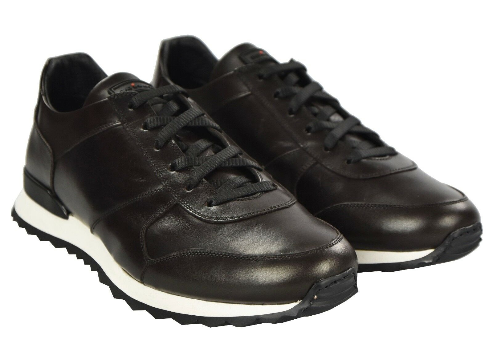 31fa75455 NEW KITON 100% LEATHER SIZE 10.5 US 43.5 KSCW8 SHOES SNEAKERS ...