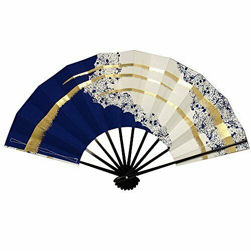 "Japanese Odori Dance /""Sensu/"" 28.8cm Folding Fan Black Gold  Maiko //Made in Japan"