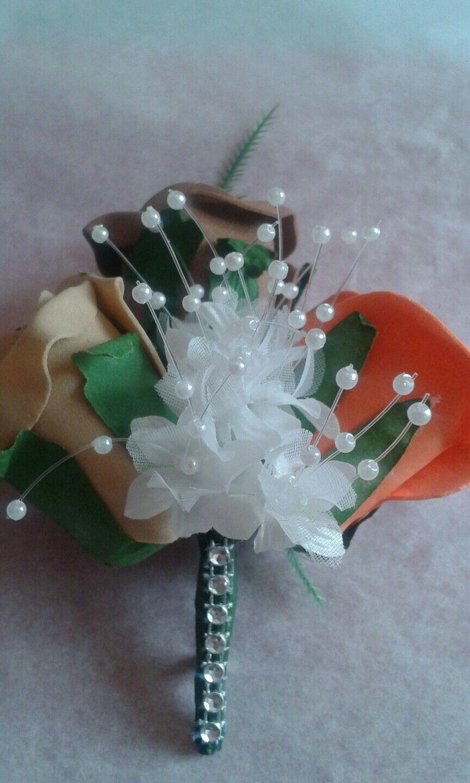 Pacchetto Doccia Bouquet da sposa sposa sposa  ColoreeeI AUTUNNO  22 Pezzi Cioccolato Arancione bruciato a41d62