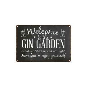 Gin Bar Signs Garden cabin Party Bar Pub Gin Gift home decor A4 metal Sign