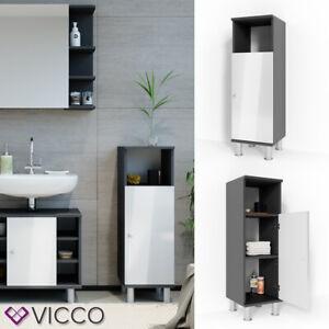 Details zu VICCO Badschrank FYNN Anthrazit Weiß - Midischrank Badezimmer  Badregal Badmöbel