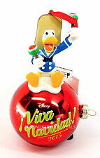 NEW Disney Parks Viva Navidad 2015 Donald Duck Red Christmas Ornament