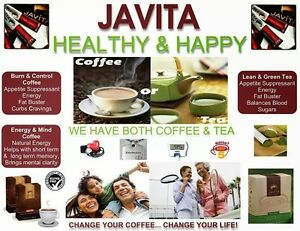 Details About Javita Weight Loss All Natural Coffee Tea Water 24pkts New Sealed