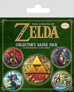 Officiel-The-Legend-Of-Zelda-Triforce-Classics-Badge-Pack-de-5-Nouveaute-Gaming