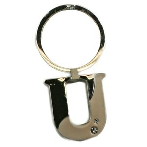 Alphabet-Initial-Key-Ring-With-Crystal-Inserts-Letter-U