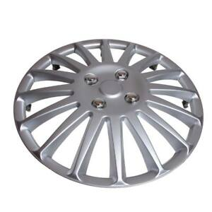 Details about TopTech Speed 16 Inch Wheel Trim Set Silver Set of 4 Hub Caps Covers