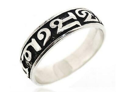 925 Sterling Silver Mens Jewelry Antique Tibetan Number