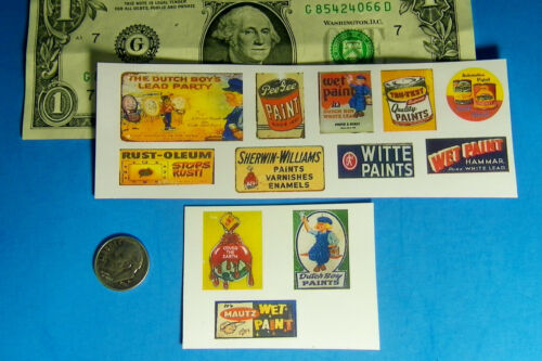1:87 HO Scale Paint Store CUT /& PEEL STICKER Mautz Dutch Boy Rust-oleum Stickers