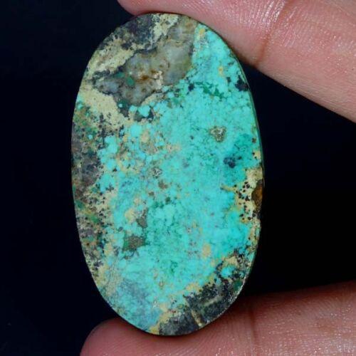 100/% Natural Oval Diseñador viejo Tíbet Turquesa Cabujón Piedra Preciosa No Tratada