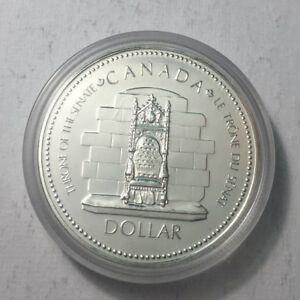 1977-Canada-Silver-Specimen-Dollar-Coin-BU-UNC