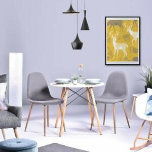 Details zu Modern Esstisch Weiß Couchtisch Rund Wohnzimmertisch  Skandinavisch Kaffetisch
