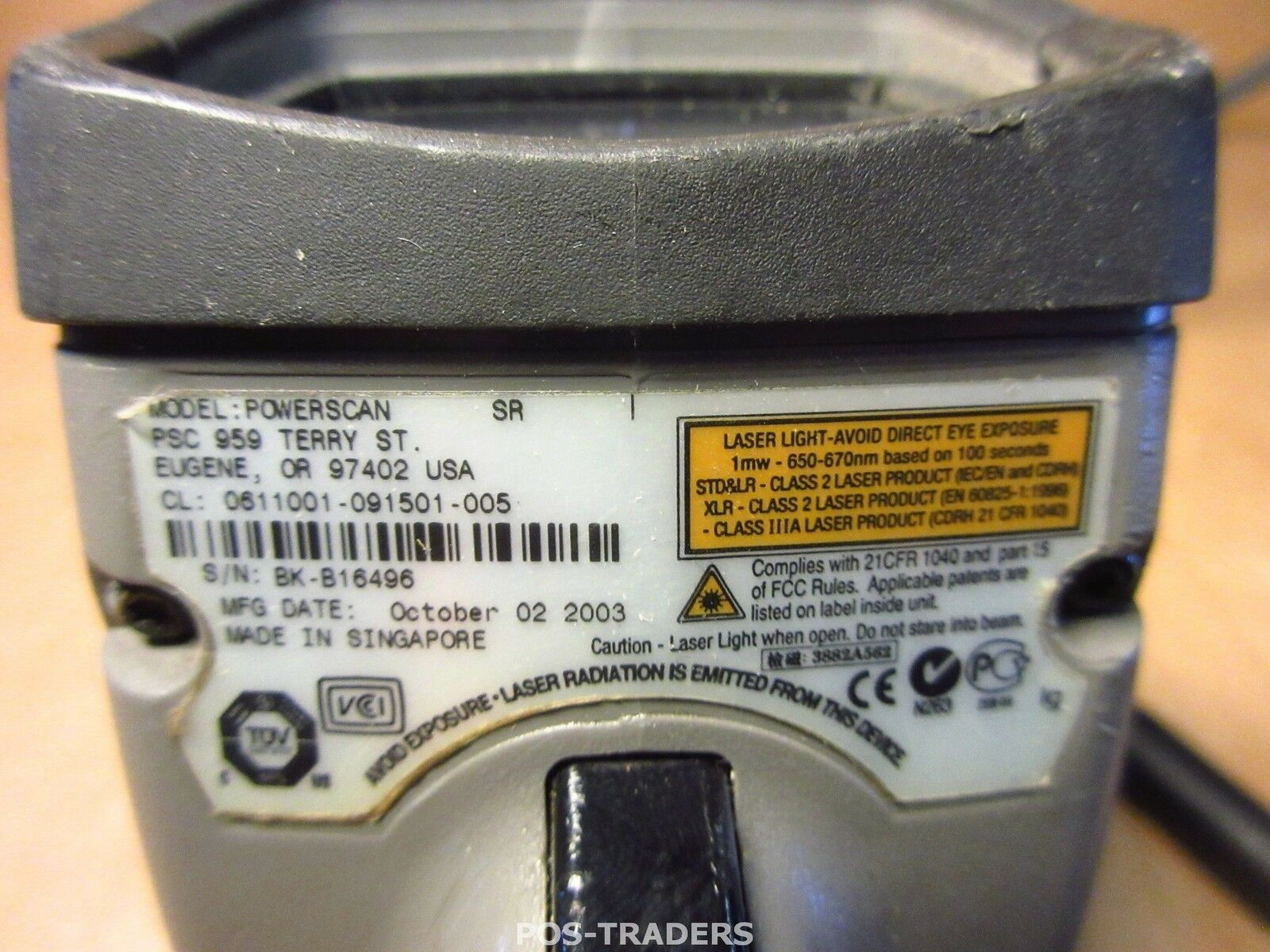 Psc powerscan Sr escáner de código de barras handheld handheld handheld mano escáner Gris-ps/2 cable 0611001 37cbdc