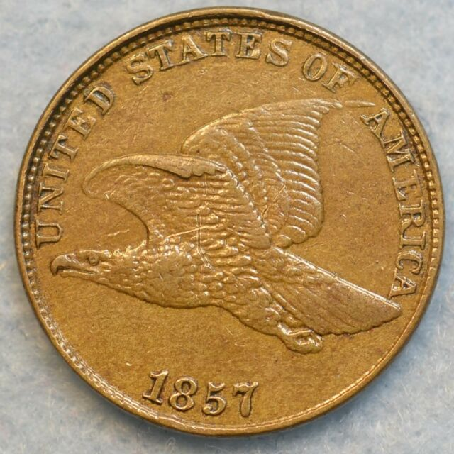 1857 Cent Flying Eagle Snow 3 DDO Variety SEE PHOTOS Original FREE SHIPPING 180