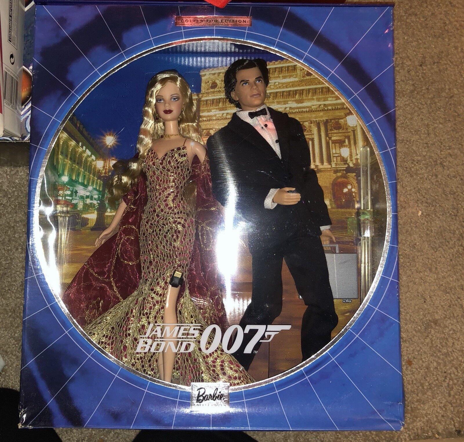 James Bond 007 Barbie y Ken 2002 Barbie Conjunto nunca quitado de la Caja de Edición Coleccionista Nuevo En Caja