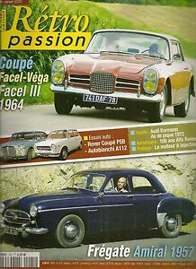 Frugal Retro Passion 225 Facel Iii 1964 Fregate Amiral Rover P5 Coupe Autobianchi A112