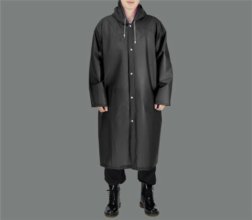 Adult Thick Disposable Rain Coat Raincoat Poncho Camping Hiking Emergency LD