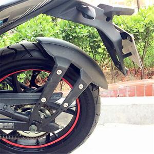 1X-Motorcycle-Rear-Fender-Fork-Mount-Wheel-Cover-Splash-Guard-Black-w-Brackets