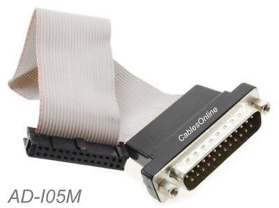 LPT1 parallel port printer I//O adapter DB25 to IDC 26Pin header slot plate EC