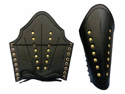Rangers Studded Sable Leather Bracers