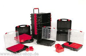 Profi-Werkzeugtrolley-mit-2-Werkzeugkoffern-und-3-Sortierkaesten-Abschliessbar