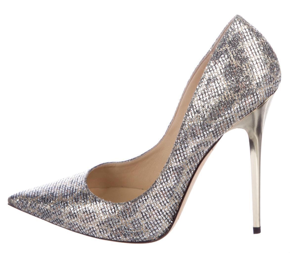 625 JIMMY CHOO Leopard ANOUK Glitter 40 Pumps shoes Heels