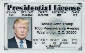 Card For Trump I Drivers d License Item Donald Ebay J Halloween Costume President