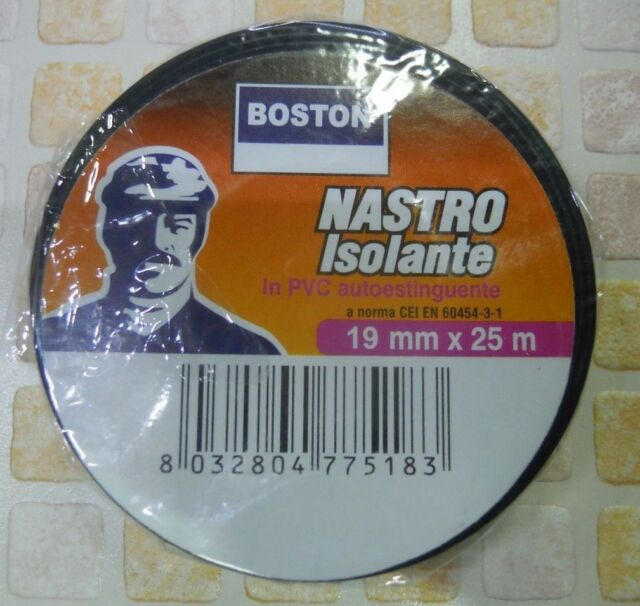 NASTRO ISOLANTE COLORE NERO 19X25 BOSTON