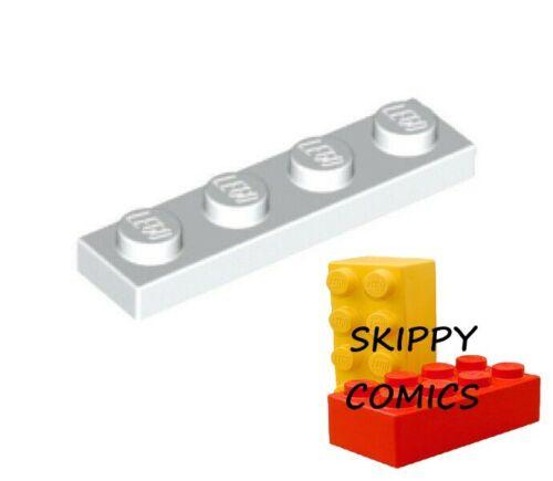 Lot x8 Lego Plaque BLANC WHITE Plate 1x4-371001 3710