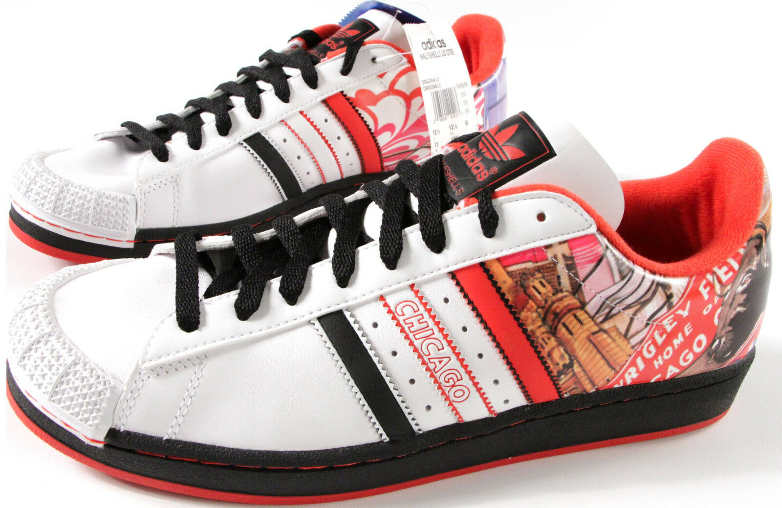 ADIDAS Originals HalfShell Sneakers- 13-NEW-Chicago Bull Wrigley Field Shoe-179