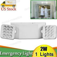 1x Led Emergency Exit Light Double Dual Head Home Office Market Ul Lighting Lamp
