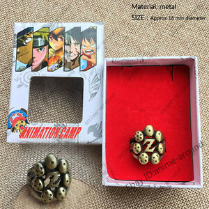 Anime DragonBall Z Goku Logo Finger Ring Bronze Meatl Hollow Cosplay Jewelry New