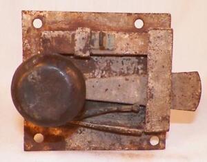 Antique-Iron-Plate-Interior-Door-Lock-18th-Century-PA-Dutch-Blacksmith-3