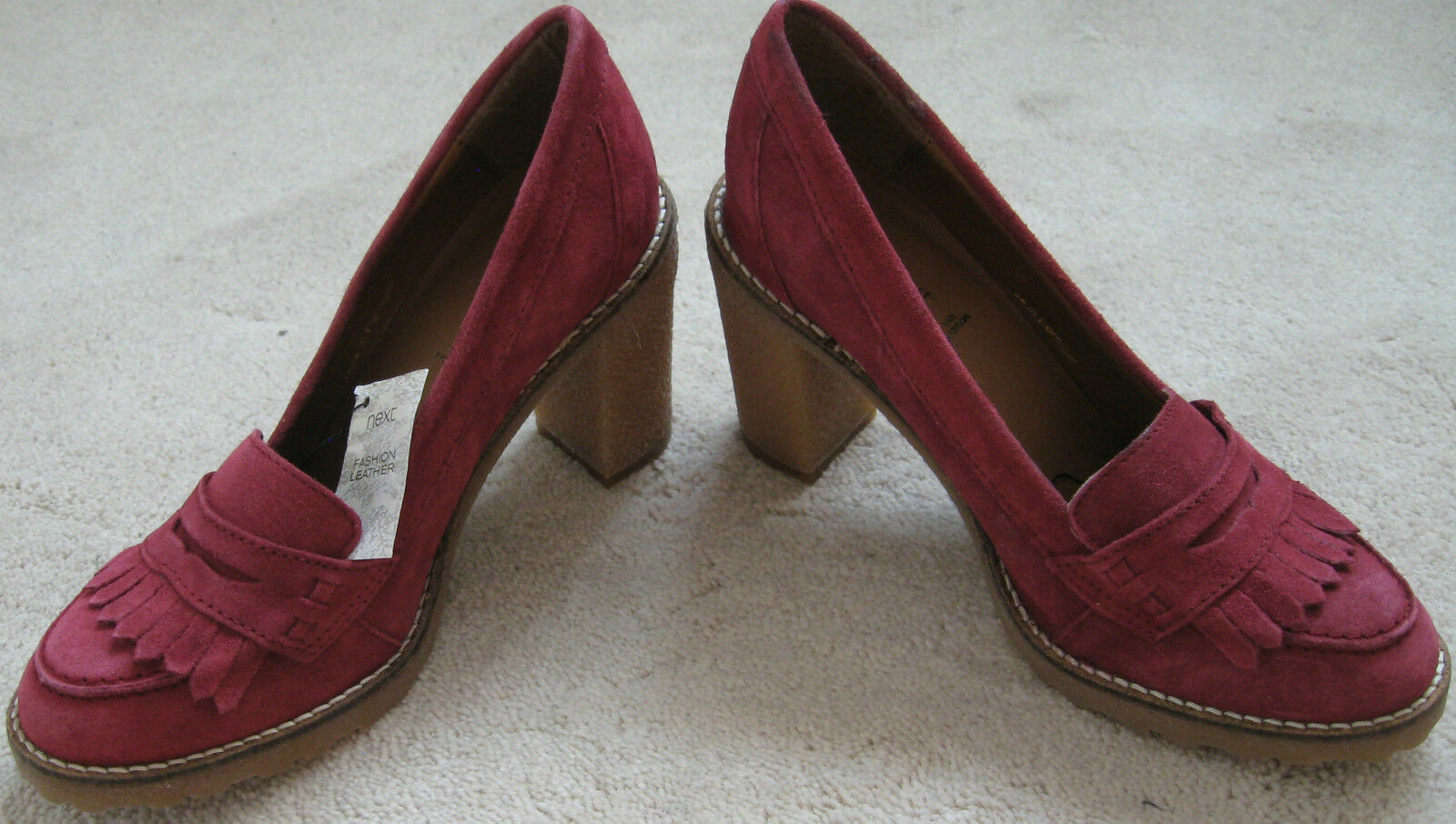 NEXT cuir rouge 3 5