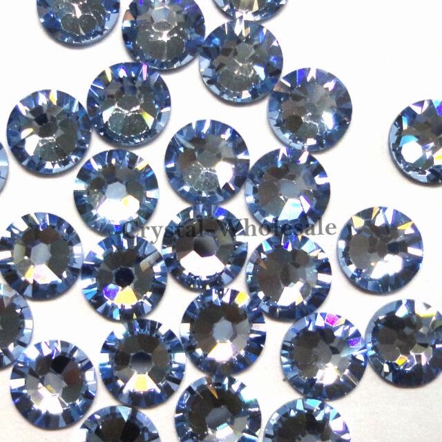 144 Swarovski 2058 6ss crystal flatbacks rhinestones ss6 LIGHT SAPPHIRE (211)