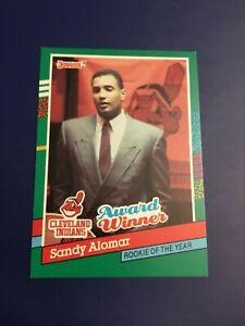 1991-Donruss-693-SANDY-ALOMAR-JR-Award-Winner-Cleveland-Indians-Baseball-Card