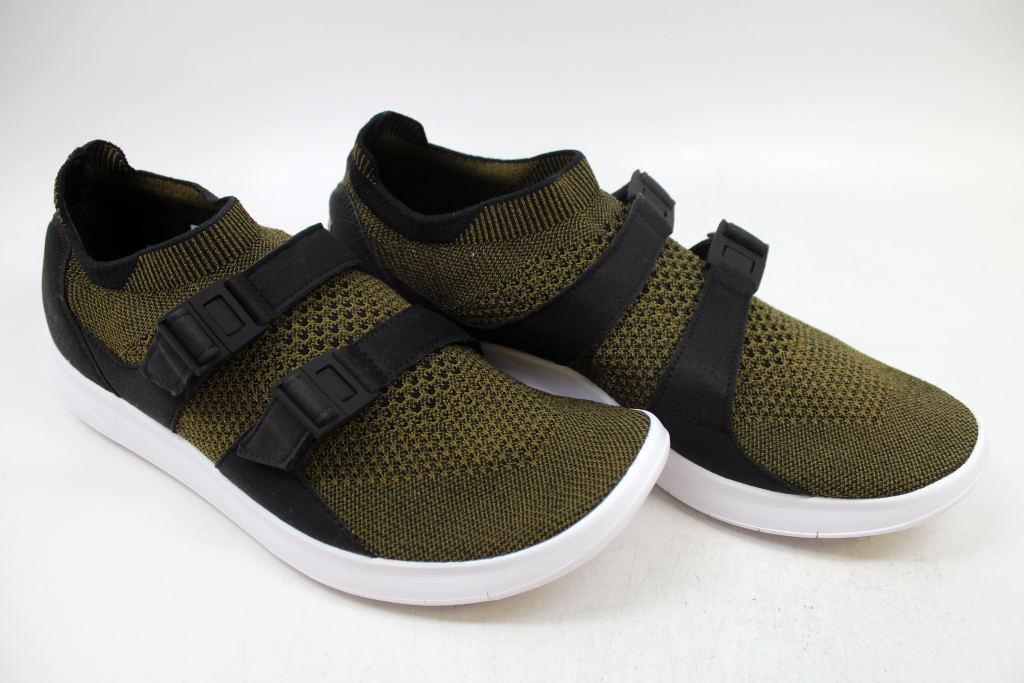 Nike air sockracer flyknit scarpe Uomo taglia 9 olive contraerea bianco nero 898022 002