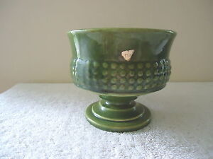 "Vintage Haeger # 136 Green Ceramic Planter Bowl "" BEAUTIFUL COLLECTIBLE ITEM """