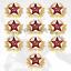 KOKARDA-RUSSIA-RED-ARMY-SOVIET-ARMY-Star-Hat-Pin-Badge-10pc thumbnail 1