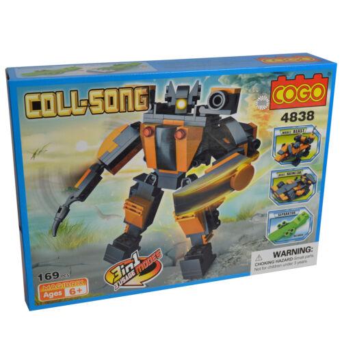3 in 1 AUTO BESTIA Blocchi di costruzione Robot Bambini Giocattolo Set per bambini COGO Nuovo di Zecca