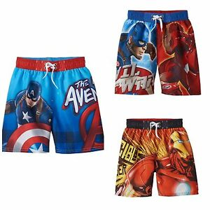 2ae7b57d13df9 Image is loading NWT-Boys-Character-Swim-Trunk-Swimsuit-Marvel-Avengers-