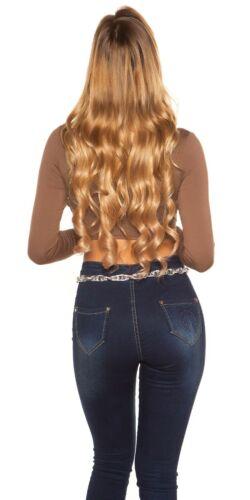 KouCla langarm Crop Top Shirt mit Cut Outs