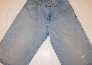 claro mezclilla azul hombre 38 cortos vintage de Logotipo Swoosh tama Pantalones Nike o para qx6PEx1v