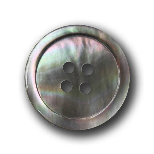 3 sehr hochwertige pm306gr silber graue Vierloch Knöpfe aus echtem Perlmutt