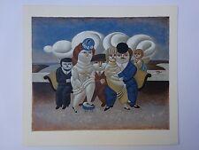 YURI MIHAILOVICH KRASNY RUSSIAN PASTEL LITHO BOTERO ART DECO SOFA CHERBU ANGEL