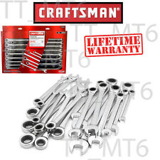 Craftsman 20 Pc Combination Ratcheting Wrench Set Metric Mm Amp Standard Sae