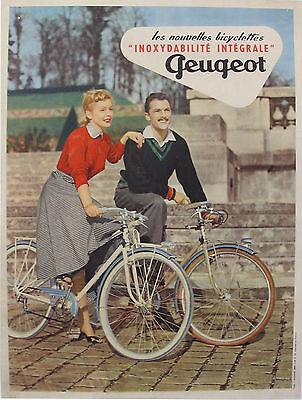 Peugeot vintage bicycle ad poster 24x36