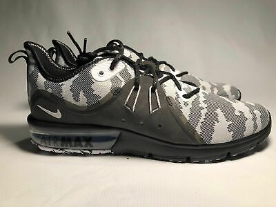Nike Air Max Sequent 3 Prem Mens Size 8 11.5 Running Black White Camo AR0251 001 | eBay